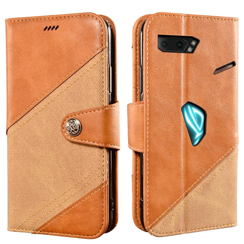 艾德維 適用於ASUS華碩敗家之眼2手機翻蓋皮套ROG Phone 3保護殼ROG二手機插卡殼ZS661KS錢包嬌嬌
