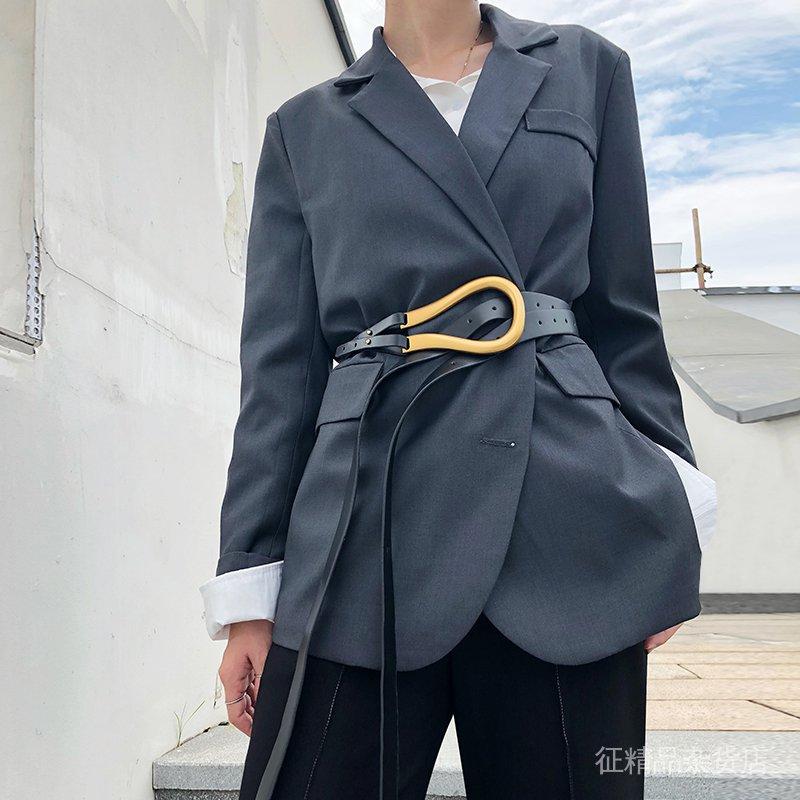 foNi 設計感2020perlin休閒外套百搭秋季女寬鬆小西服新款時尚韓版西裝