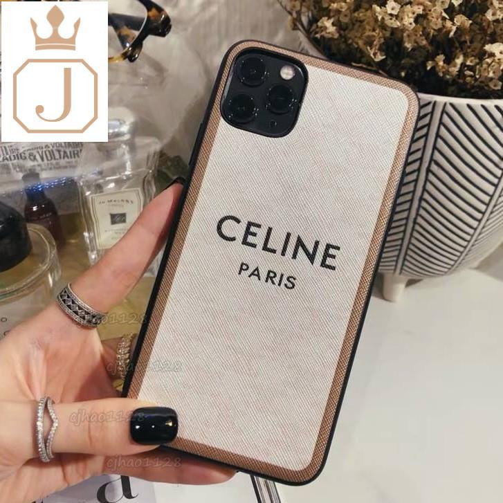 「特務J」時尚大牌celine適用iphone12 11 11pro手機殼XSMAX XR 8Plus 手機殼套皮質情侶