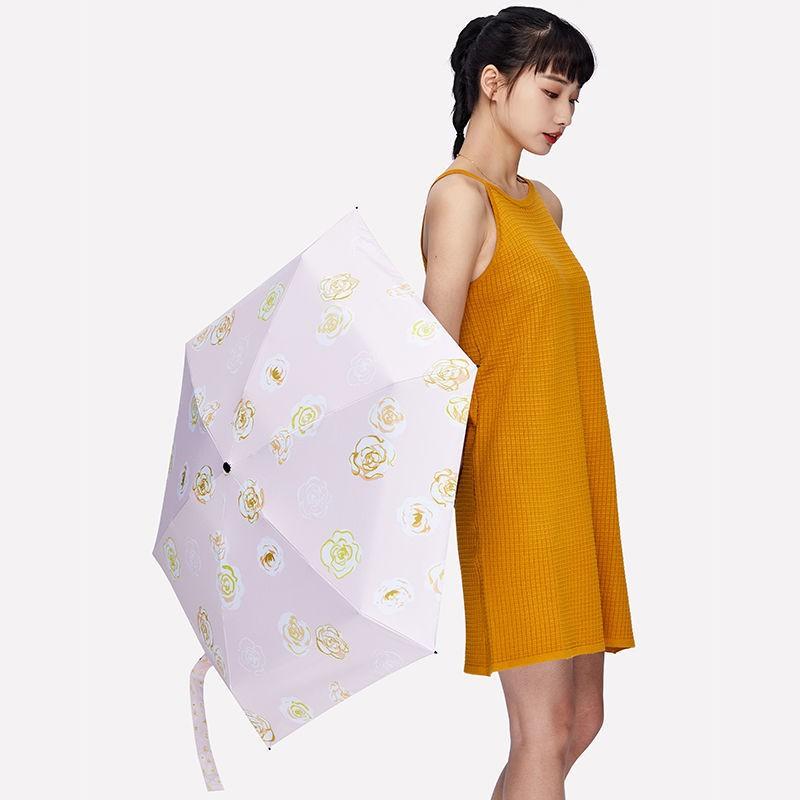 【口袋雨傘】【新品】banana kiu小黑傘六折小巧便攜太陽傘遮陽防曬防紫外線女晴雨兩用
