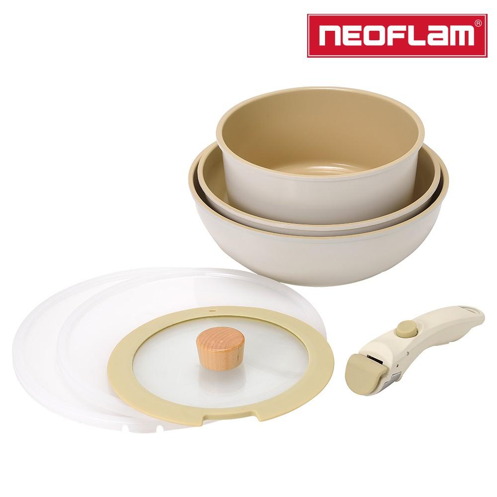 NEOFLAM FIKA Midas Plus陶瓷塗層鍋具7件組(電磁底)