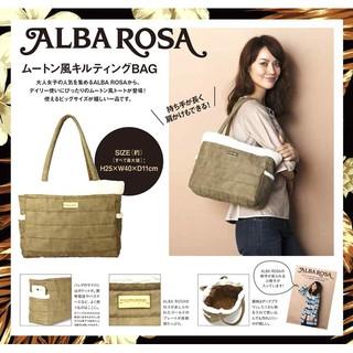 兔日殿~ 日本mook專刊雜誌附錄附贈 ALBA ROSA 復古羊皮風提包 托特包 手提包 肩背包 手提袋 新北市