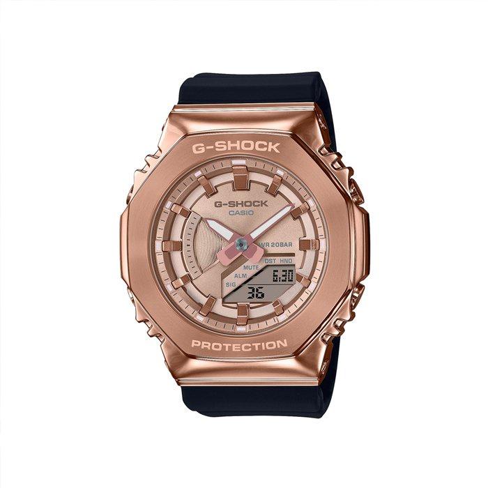 5Cgo 卡西歐 G-SHOCK GM-S2100PG-1A4 八角形金屬錶殼手錶玫瑰金 eHDn