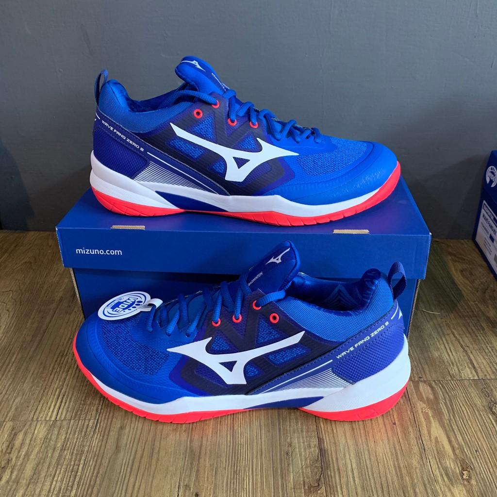 【英明羽球】美津濃 (MIZUNO) 21SS WAVE FANG ZERO 2 羽球鞋 71GA219 (紅/藍)