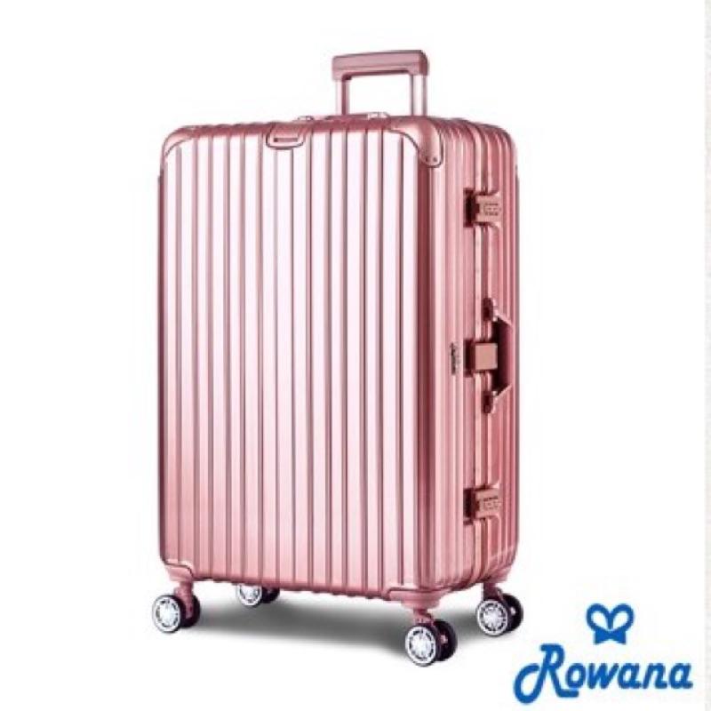ROWANA 星鑽冰糖金屬平框避震行李箱