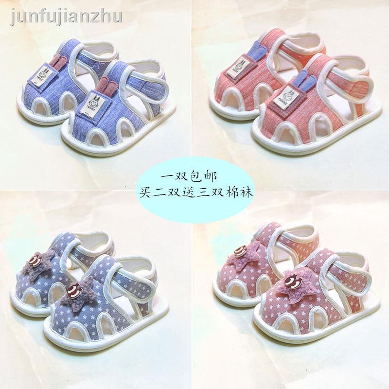 ✴ↂ【安陽市熱賣】0-1歲寶寶鞋子夏6-8月嬰兒涼鞋3新生兒軟底布鞋12透氣防滑學步鞋