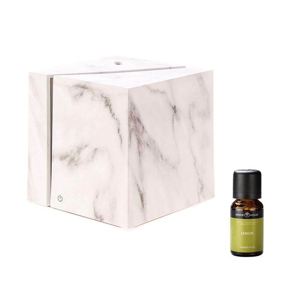 立方白精靈香氛水氧機+SH美國精油-檸檬 組合
