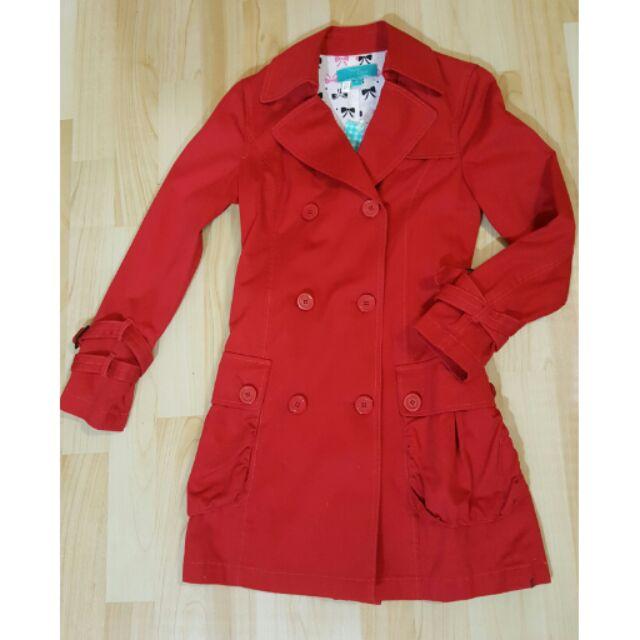 《全新》weekend workshop大紅色風衣外套