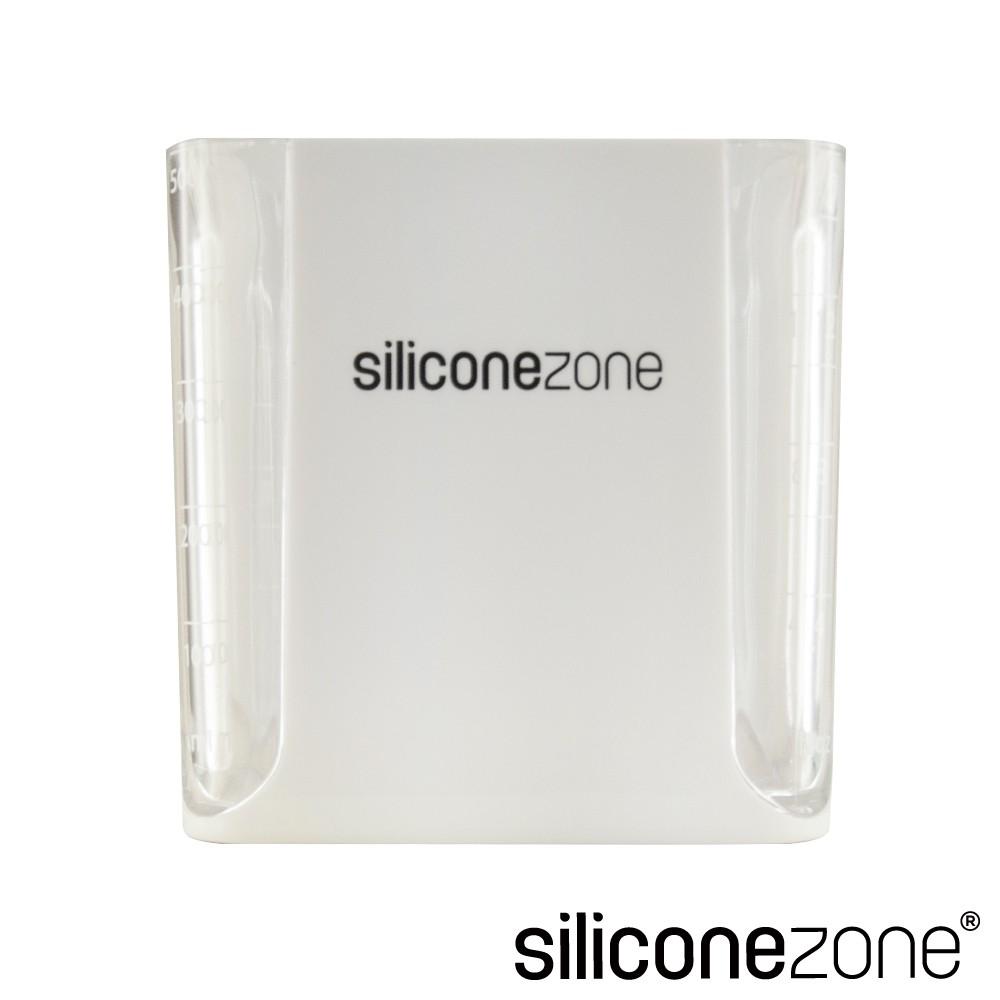 【Siliconezone】高品質食品級 施理康 520ml耐熱立方造型計量杯&計量匙(灰)