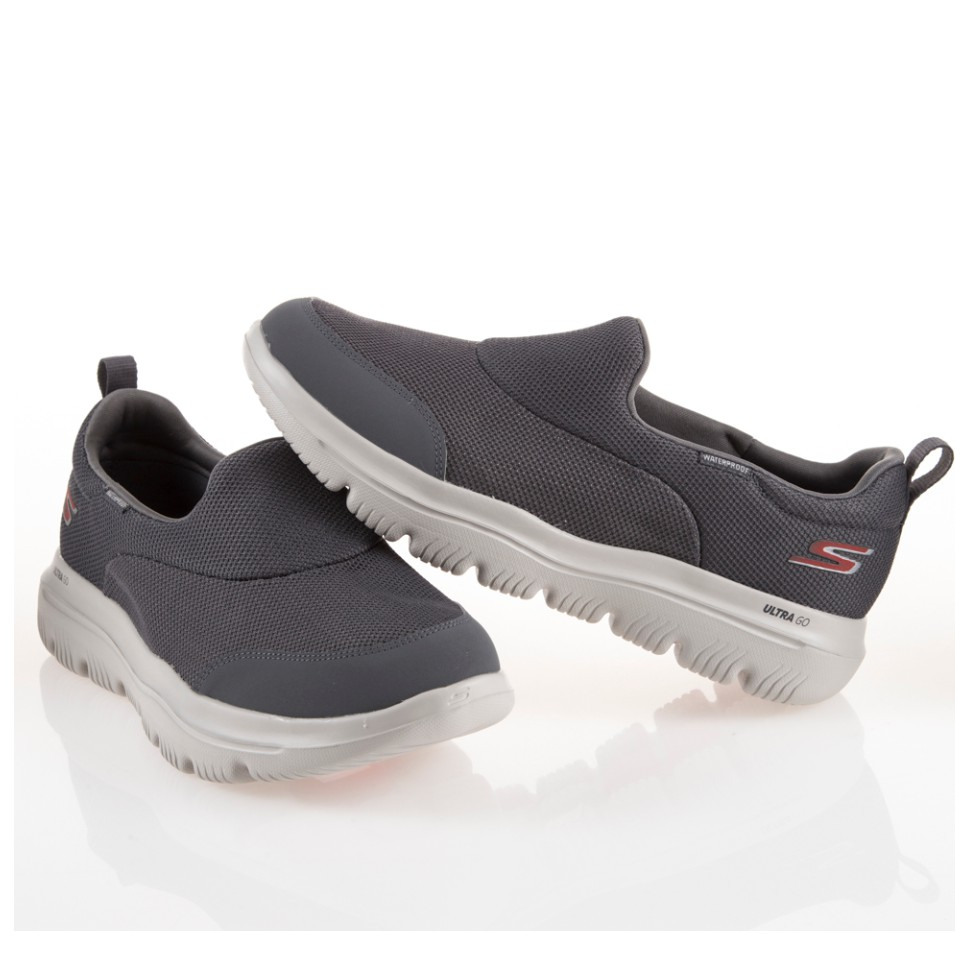 Skechers GO WALK EVOLUTION 健走鞋 灰白 男版 瑜珈鞋墊 54755CHAR