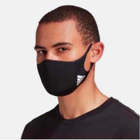Adidas 愛迪達 Face Covers 口罩 臉罩 非醫療級口罩 H08836 黑色 全新公司貨 防護防風口罩