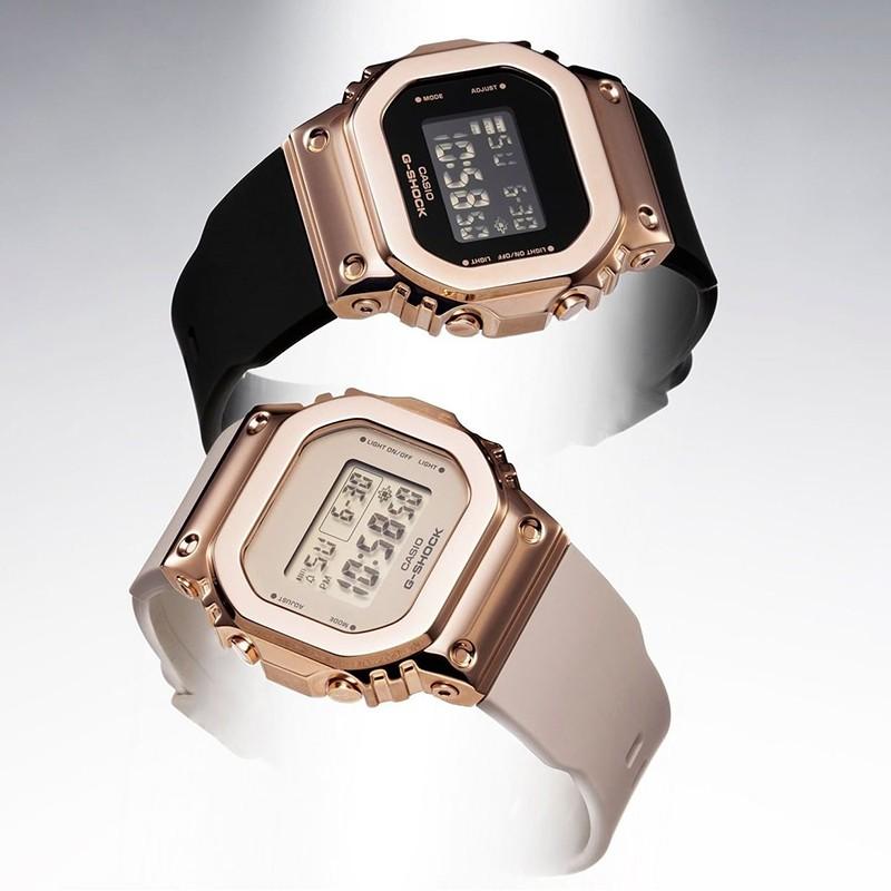 【熱售】casio卡西歐手錶女官方正品運動復古經典新款金屬小方塊GM-S5600 PQnX
