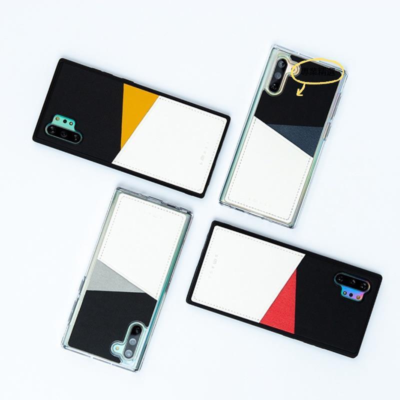 代購❁❆韓國正版賈靜雯同款三星note10+plus插卡手機殼5g可放卡硅膠套潮