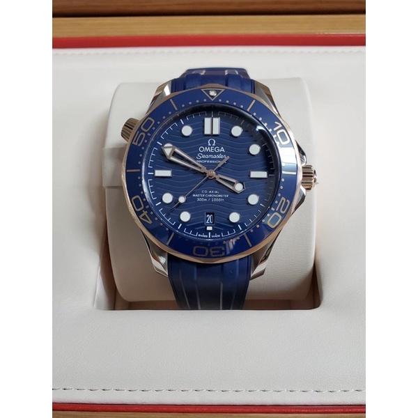Omega seamaster 300m 海馬300米 潛水錶 玫瑰金半金