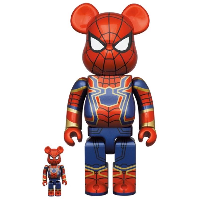 台北實體店面 Cozy_Taipei_👟BE@RBRICK IRON SPIDER 鋼鐵人 蜘蛛人100% & 400%