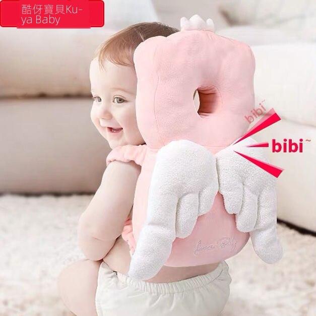 寶寶嬰兒夏季防摔護頭枕 頭部保護墊學步枕 兒童學步防撞帽學步帶