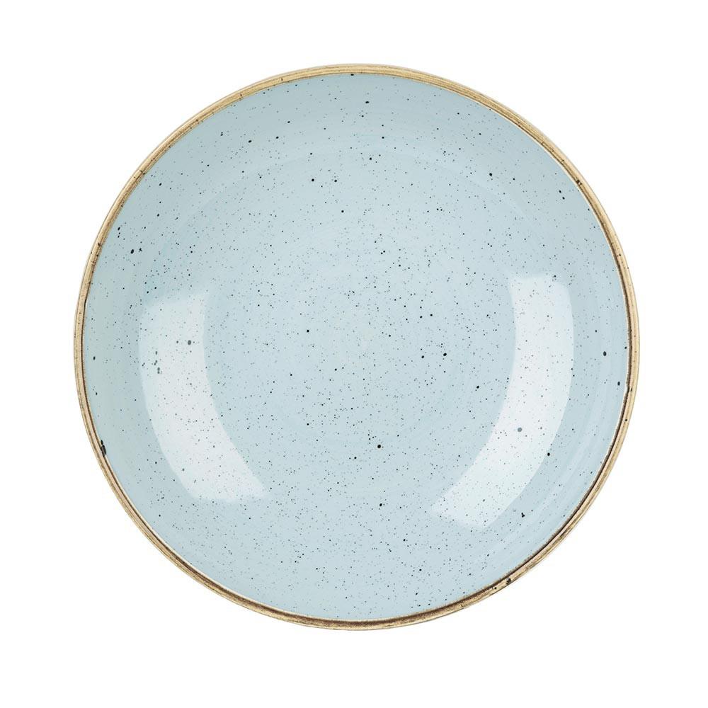 【CHURCHiLL】STONECAST點藏系列-圓形25cm西式餐碗/餐盤-蛋青色