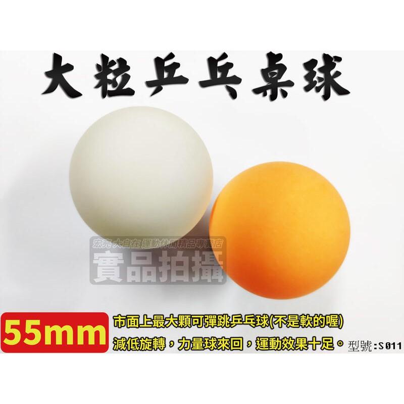 [大自在]3顆$100 桌球 練習球 乒乓球 55mm 大粒 大顆 新塑料 簽名球 塑料球 長青盃 有縫球 S011