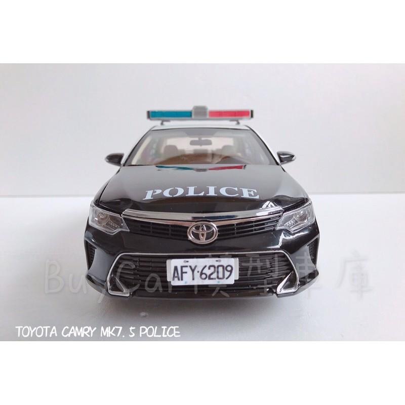 BuyCar模型車庫 1:18 Toyota Camry 7.5代 警車 模型車