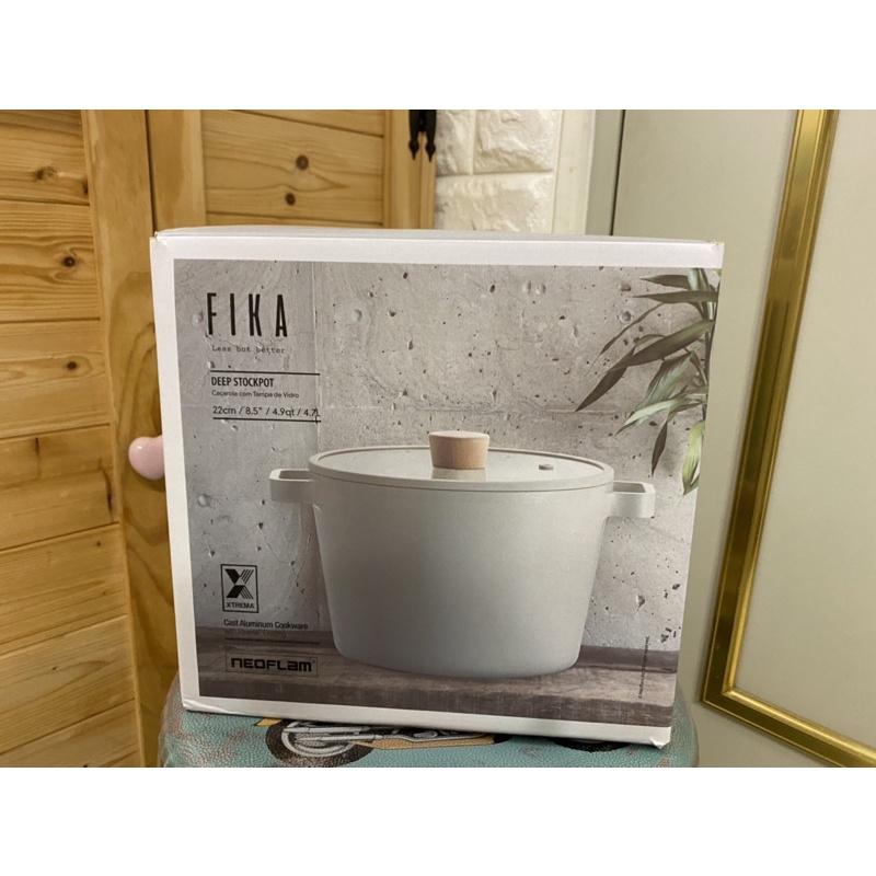 {全新}Neoflam Fika 牛奶鍋系列 22cm雙耳湯鍋附蓋 (深鍋) 附304煮麵網