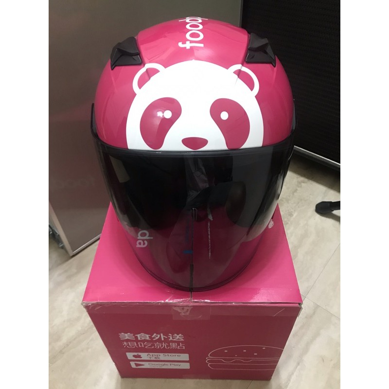 foodpanda熊貓安全帽L  九成新(非全新)