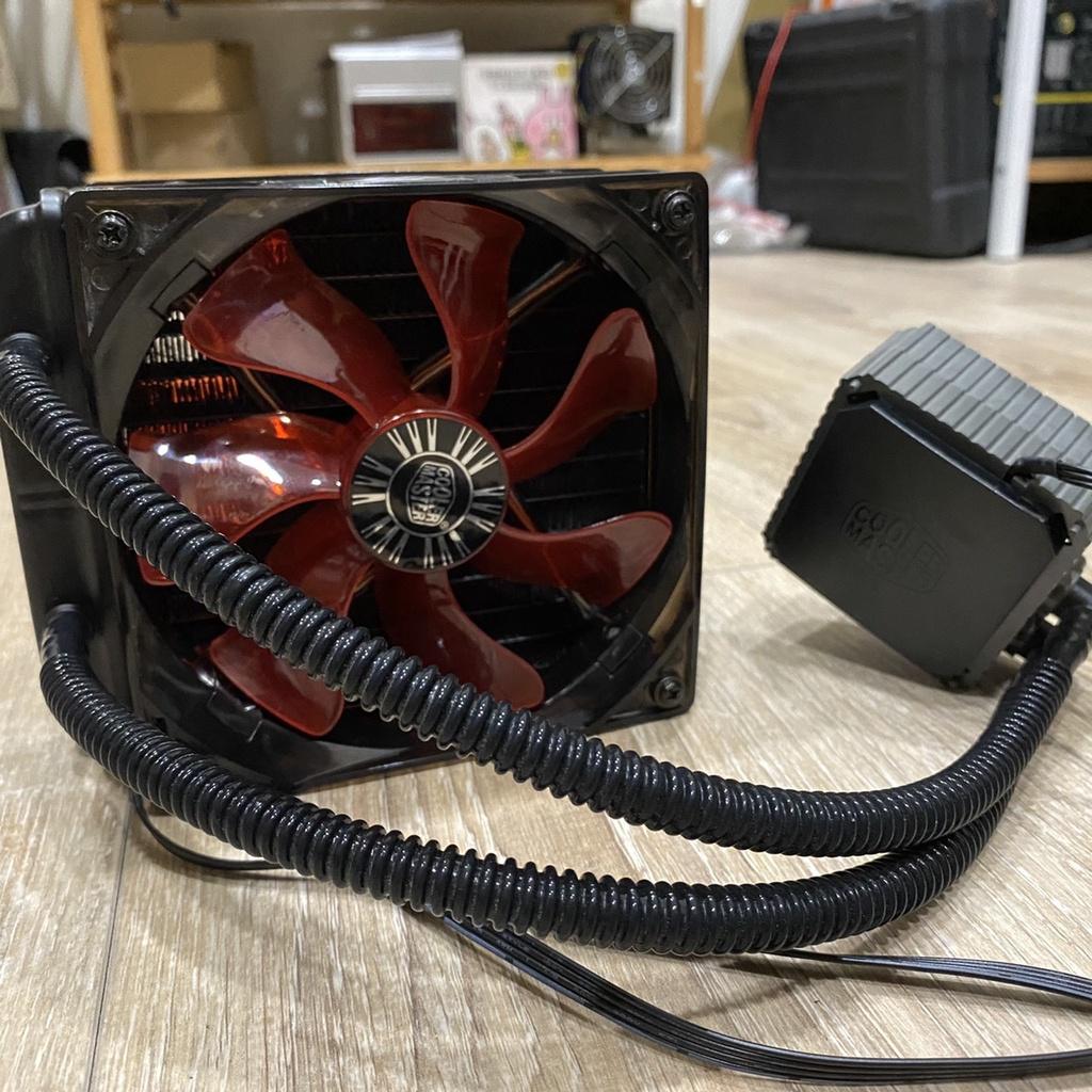 COOLERMASTER酷碼Seidon 120V V3 Plus 水冷散熱器 紅光雙風扇 intel扣具