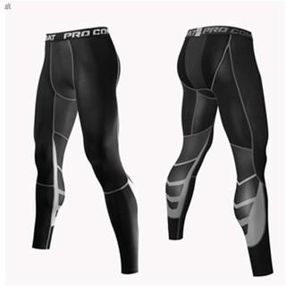 緊身衣  壓縮褲 ☞✠籃球運動緊身褲男打底健身跑步足球訓練護腿7分長褲襪壓縮高彈