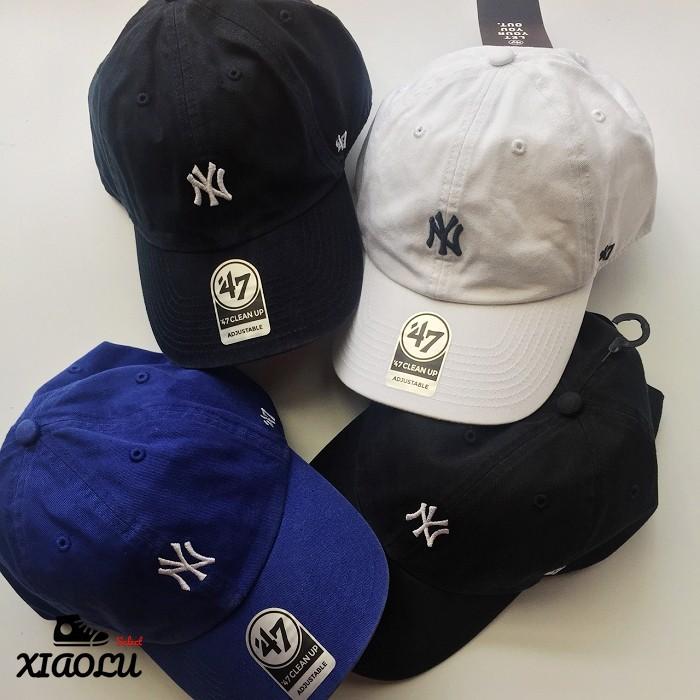 36f3ba57b287  SREY帽屋 預購☆47 Brand CLEAN UP MLB 洛杉磯道奇經典LOGO 全黑日本限定棒球帽老帽