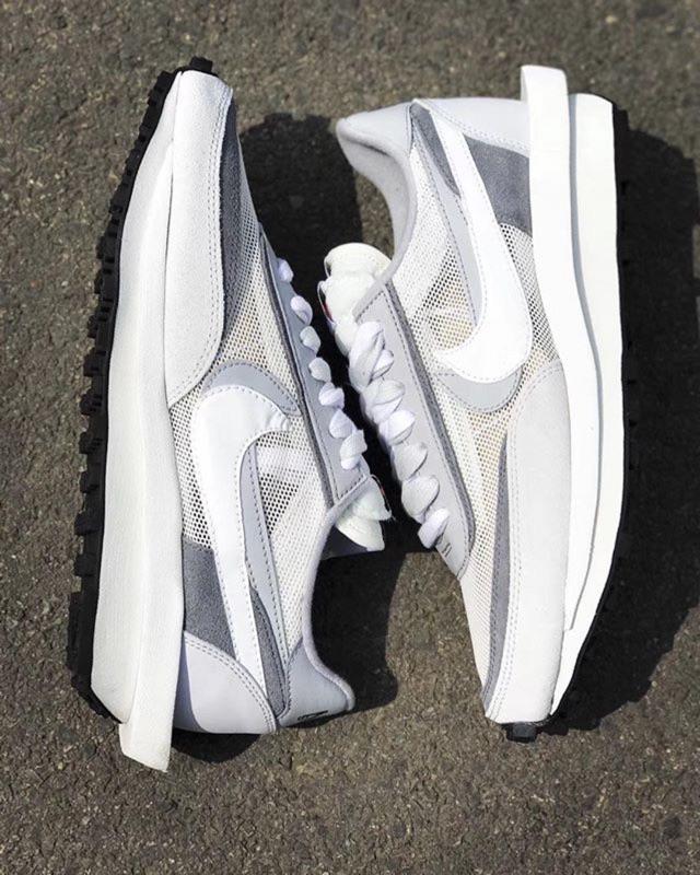 Sacai x Nike LDV Waffle 灰白