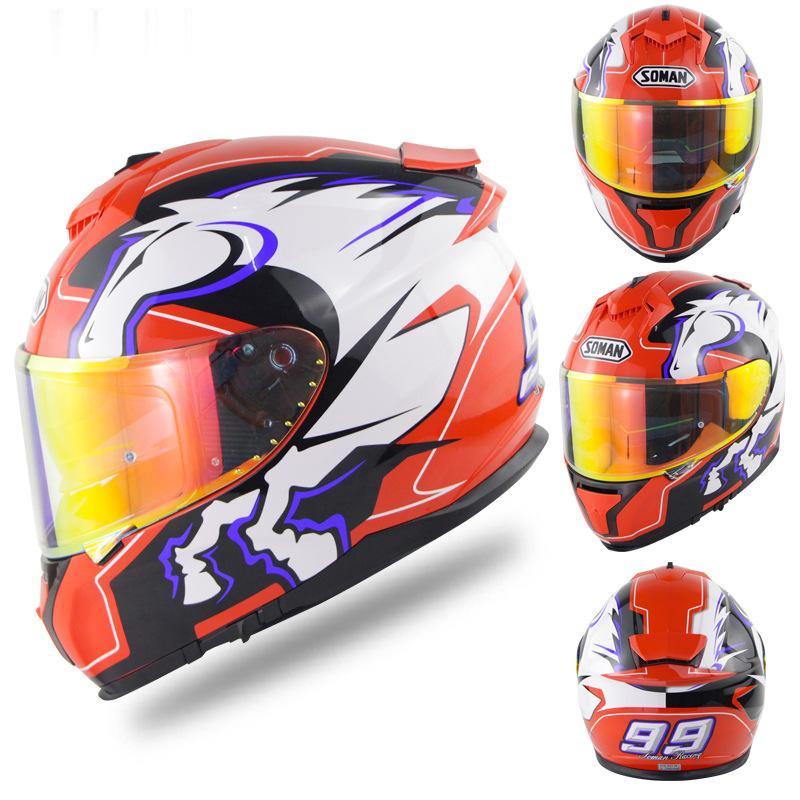 🔥🔥soman 安全帽🔥🔥機車 頭盔 摩托車 造型安全帽 全罩安全帽 造型設計cos特殊頭盔