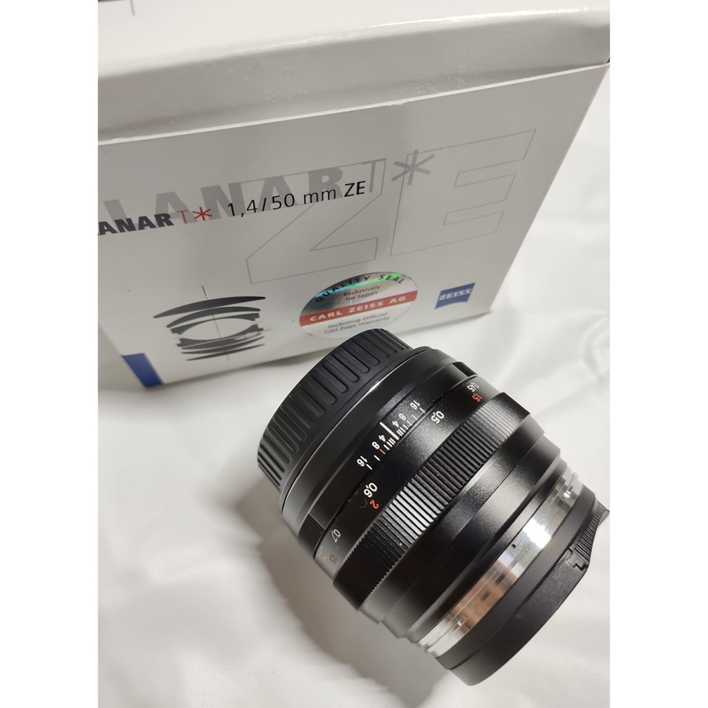 ZEISS Planar T* F1.4 50mm ZE for CANON 卡爾蔡司 二手鏡 送保護鏡 免運