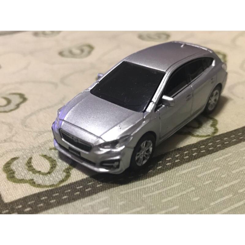 原廠 1/72 Subaru Impreza eyesight 塑料模型車 銀色 模型 迴力車
