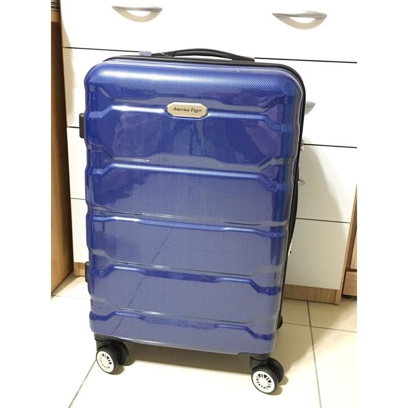 America Tiger 24吋 藍色碳纖 行李箱 全新