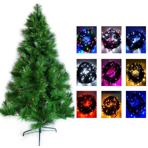台灣製 8呎/ 8尺(240cm)特級綠松針葉聖誕樹 (+飾品組)(不含燈)