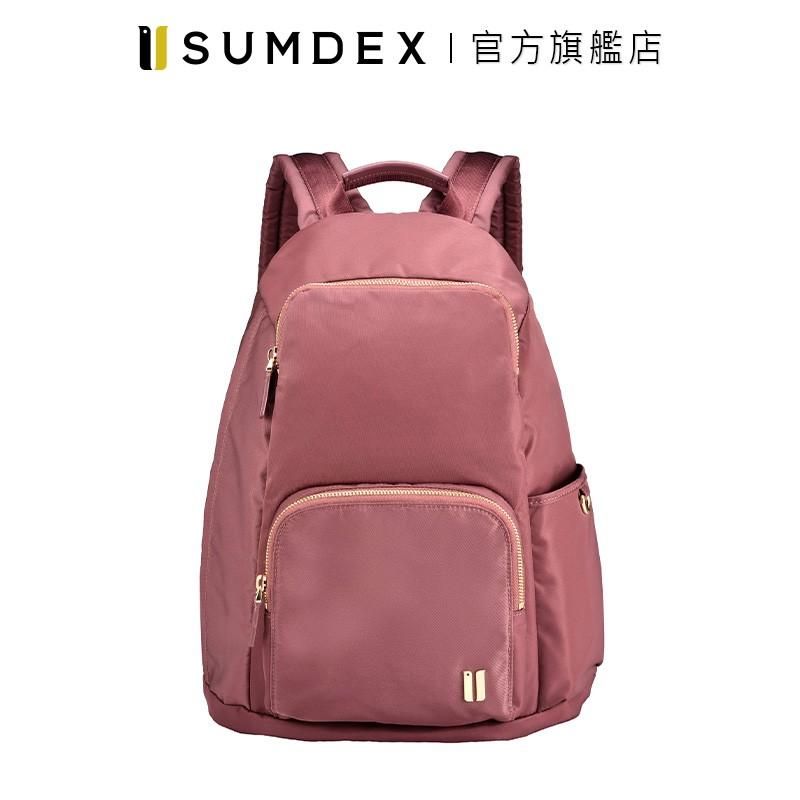 Sumdex 輕簡防盜後開後背包 NOA-764CR 紅色 官方旗艦店