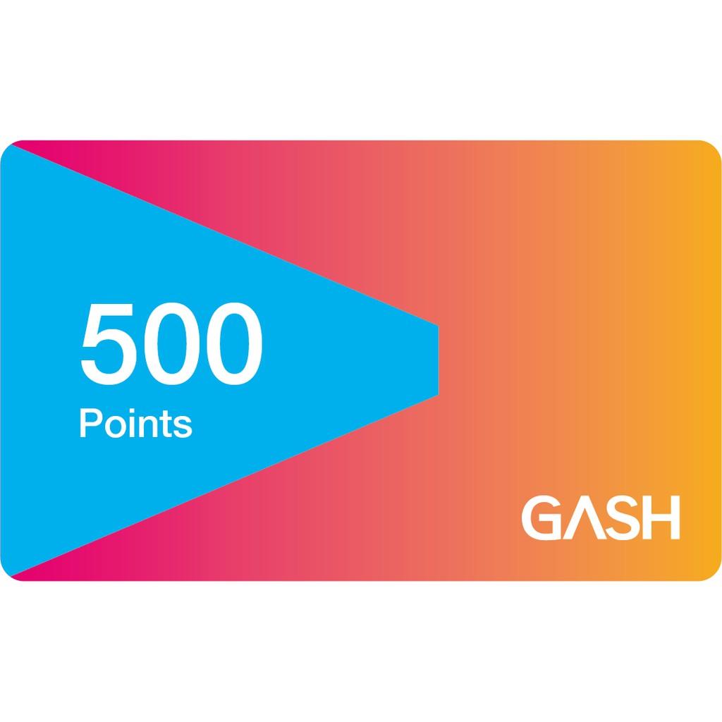 GASH 點數卡 500點 95折(官方虛擬序號)【大姆哥遊戲便利屋】