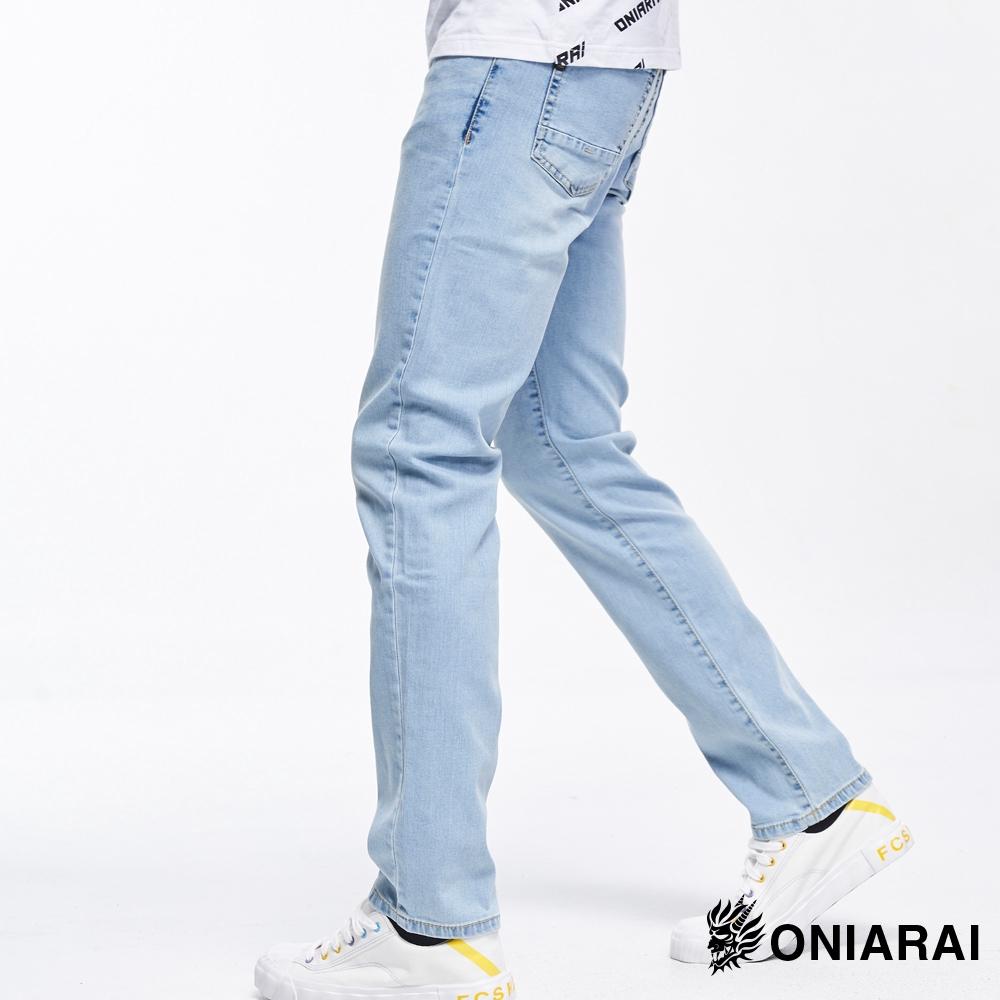 BLUE WAY 鬼洗 ONIARAI- 氣持涼爽淺色牛仔長褲