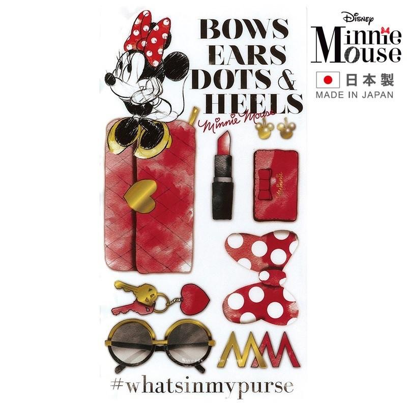 迪士尼【 TW SAS日本限定 】【 日本製 】米妮 時尚美妝風版 口罩收納夾 / 口罩收納套