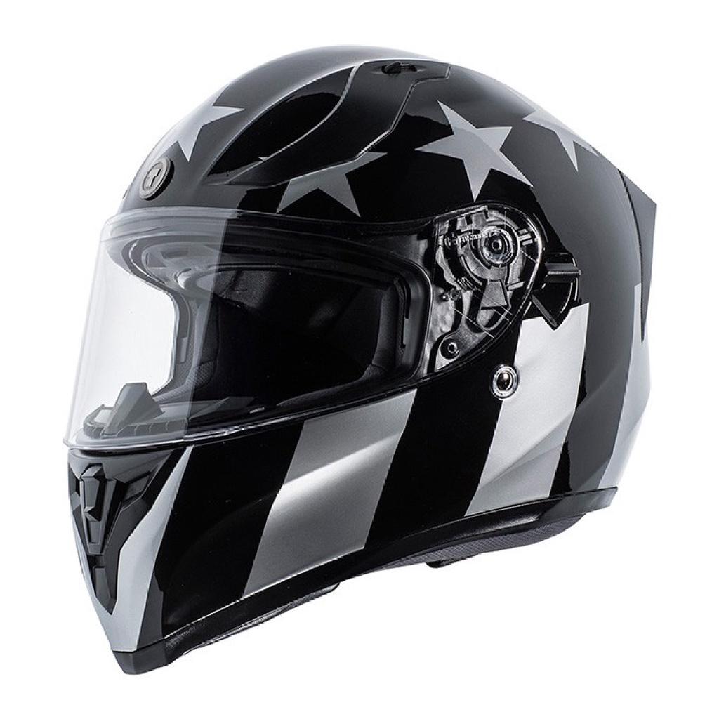 [安信騎士] TORC T15 彩繪 CAPTAIN SHADOW GLOSS 全罩 安全帽 雙D扣 雙鏡片