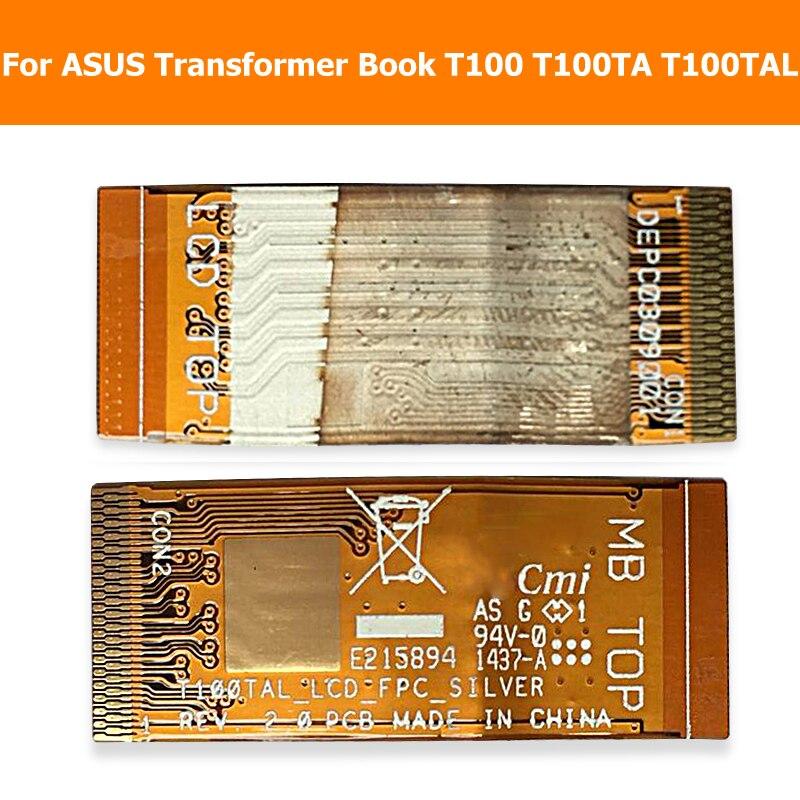 液晶顯示面板柔性電纜華碩變壓器書 T100 T100Ta T100Tal Lcd 屏幕模塊 Flex 電纜 T100Ta