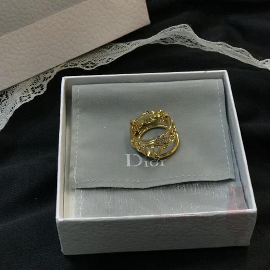 波斯貓奢品店 DIOR 迪奧 Petit CD 三環戒指 女款 金色 R0902PMTCY-D301