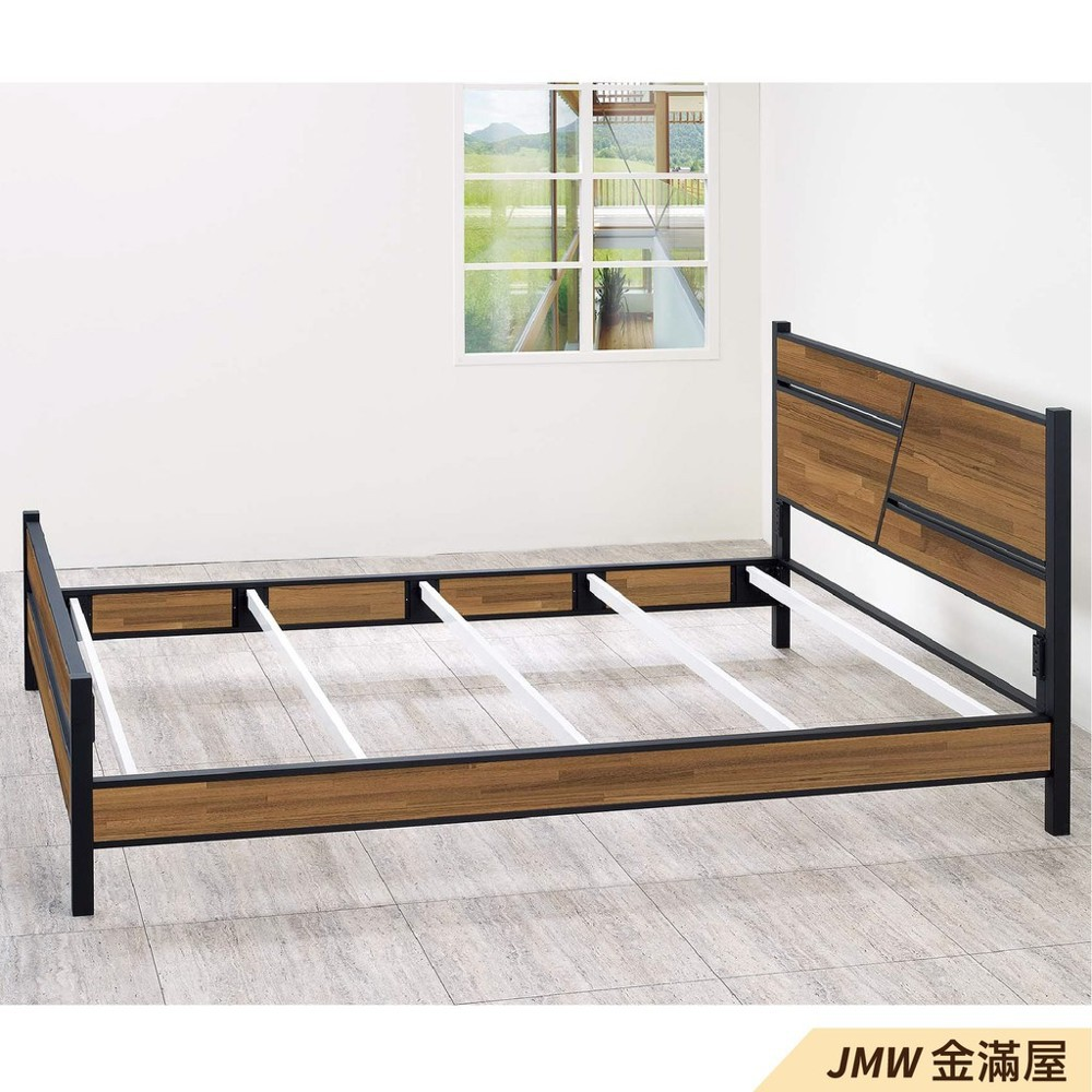 [免運]標準雙人5尺 床底 單人床架 高腳床組 抽屜收納 臥房床組【金滿屋】C005-1