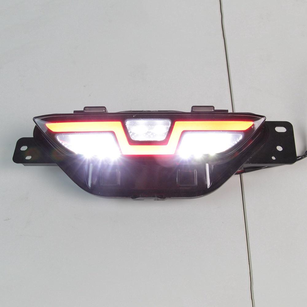 豐田 汽車後杠燈 導光A款 Toyota CHR 16-18年 三功能LED後保險槓燈尾燈 後霧燈 行車燈剎車燈轉向燈