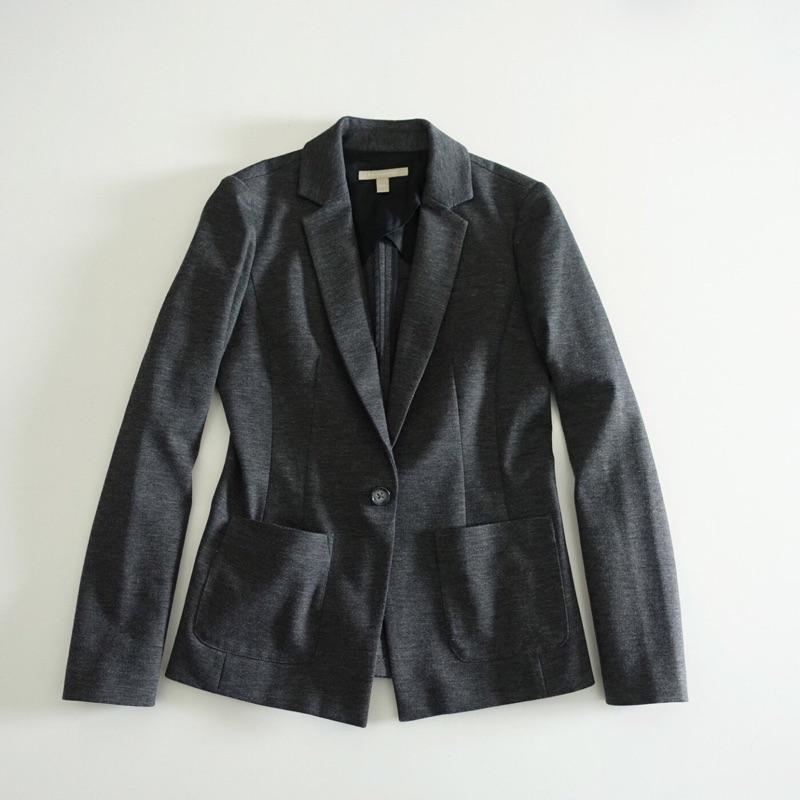 美國BANANA REPUBLIC 深灰色合身版休閒西裝外套XS