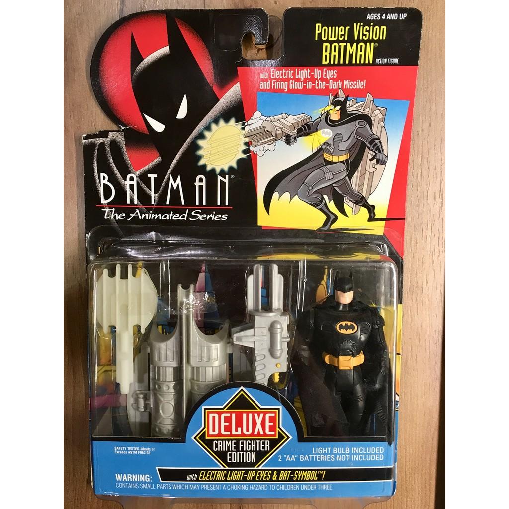 [蝙蝠俠015]Kenner 1993 動畫系列 豪華版 Power Vision Batman 5吋 吊卡 卡損出清