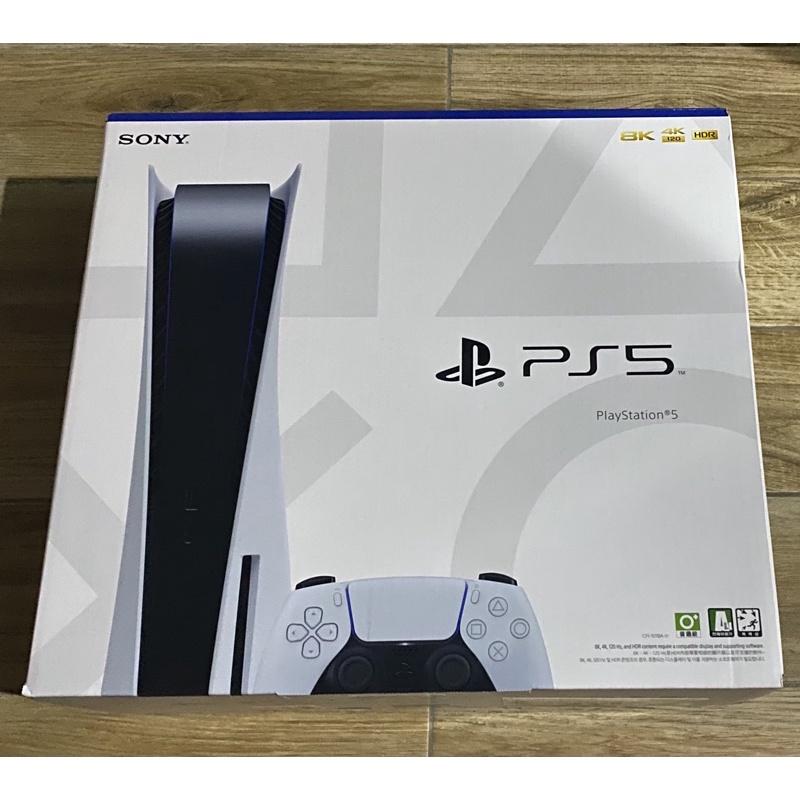 現貨 PS5 Playstation 5 光碟版 台灣公司貨 全新未拆