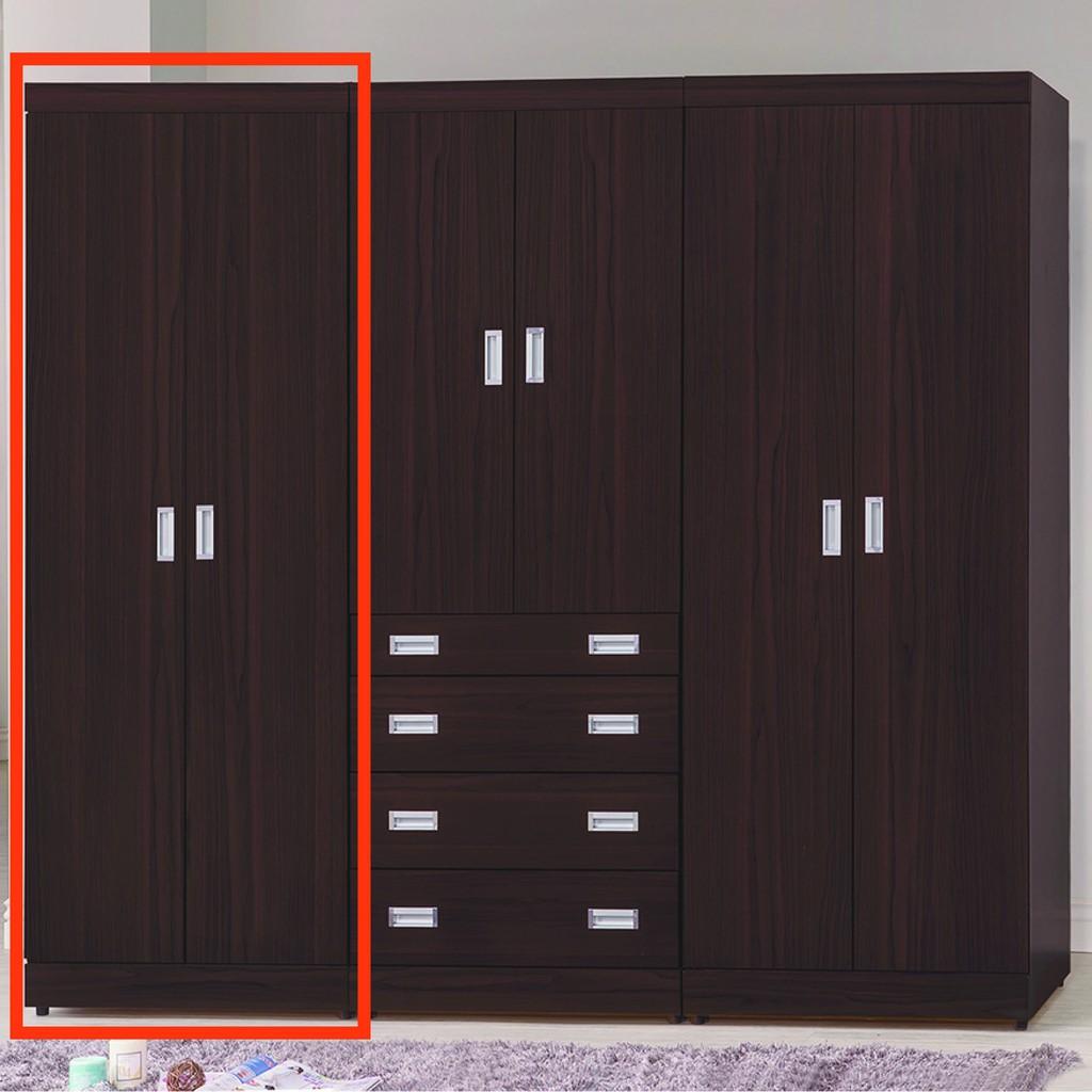 【75cm雙吊衣櫃-K58-728】木心板 推門滑門開門 衣服收納 免組裝 【金滿屋】