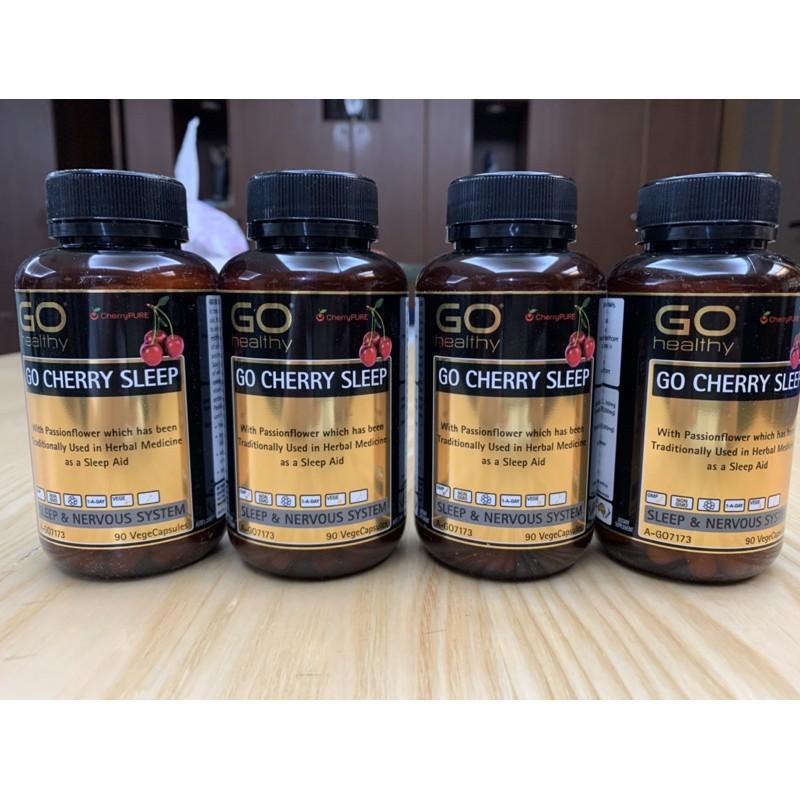 【澳洲現貨3罐】Go Healthy Go Cherry Sleep 紐西蘭 櫻桃助眠膠囊 褪黑 改善睡眠 緊張 90顆
