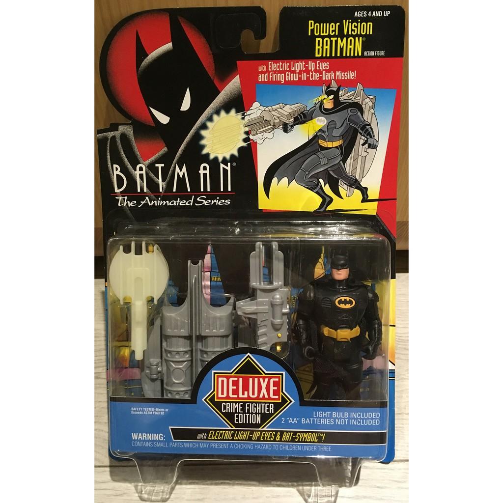 [蝙蝠俠012]Kenner 1993  動畫系列 豪華版 Power Vision Batman 5吋 吊卡