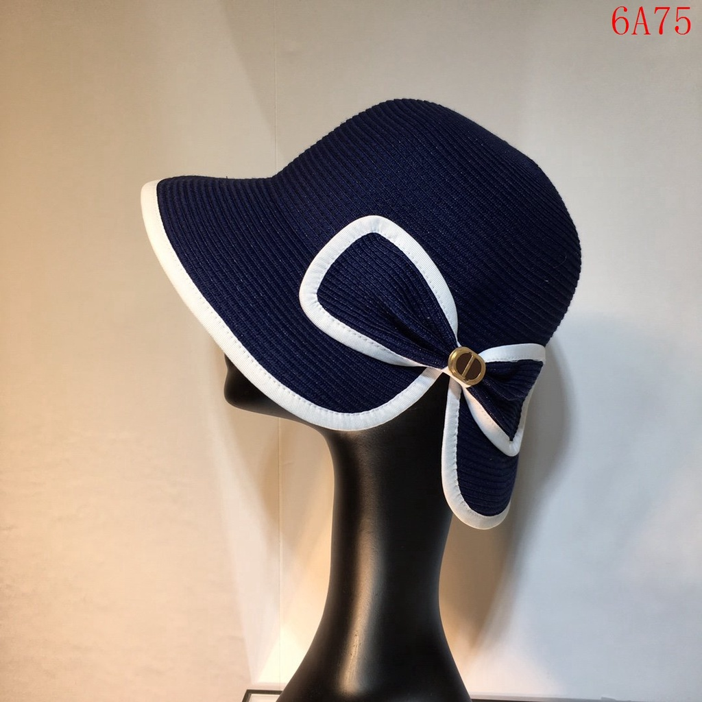 二手正品  Dior迪奧 2021ssCD 蝴蝶結漁夫帽